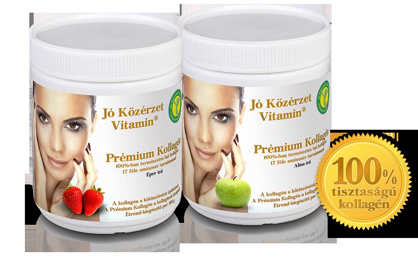 Jó Közérzet Vitamin Prémium Kollagén Almás, epres ízű